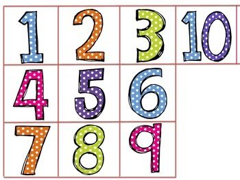 Holiday Preschool Counting Activity   #1-10