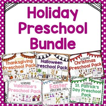 Holiday Preschool Themes Bundle