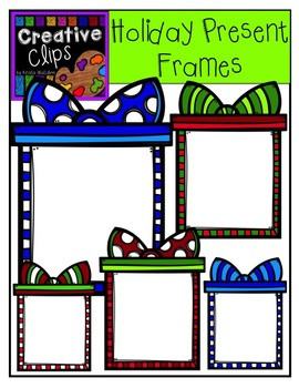 Holiday Present Frames {Creative Clips Digital Clipart}