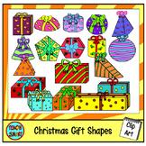 Christmas Gift 3D Shapes Clip Art