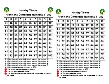 Holiday Prime and Composite Numbers