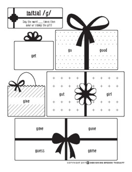 Holiday Print and Go Speech & Language Activities