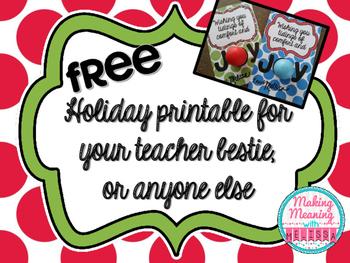 Holiday Printable for Gift Giving