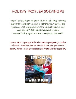 SOCIAL SKILLS: Holiday Problem Solving