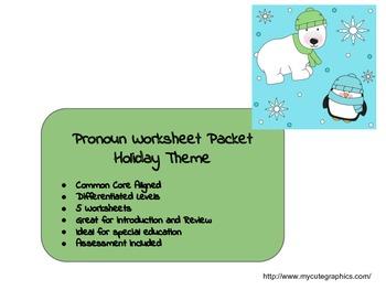 Holiday Pronoun Packet