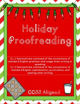 Holiday Proofreading - Common Core Aligned