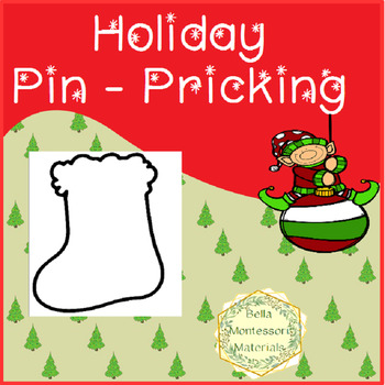 Montessori Holiday Punch Outs - Pin Pricking