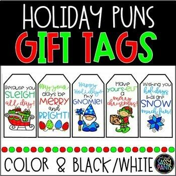 Holiday Puns Tags   Holiday Gift Tags   Puns Tags   Christmas Gift Tags