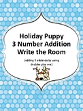 Holiday Puppy 3 Number Addition