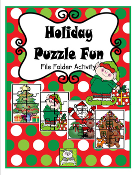 Christmas Puzzles File Folder Activity