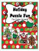 Christmas Puzzles File Folder Activity