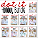 Holiday Q-tip Dot-It Tracer Pages Bundle