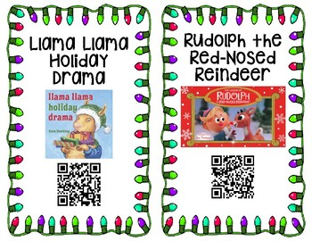 Holiday QR Code Read Alouds 19 Books! Christmas/Hanukkah/Kwanzaa