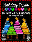 Holiday Quick Find Trivia Questions (Christmas, Hanukkah, Kwanzaa, New Year's)