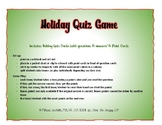 Holiday Quiz Game