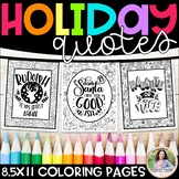 Holiday Quotes Coloring Pages for the Christmas & Winter Season