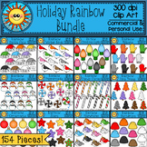 Holiday Rainbow Bundle Clip Art