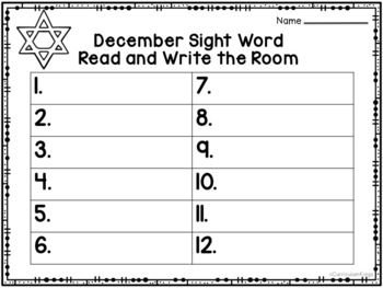 Holiday Read and Write the Room Second Grade