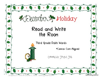 Holiday Read and Write the Room Third Grade