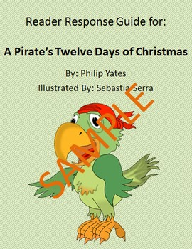Holiday Reader Response Guide: A Pirate's 12 Days of Christmas