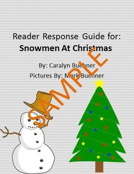 Holiday Reader Response Guide: Snowmen at Christmas