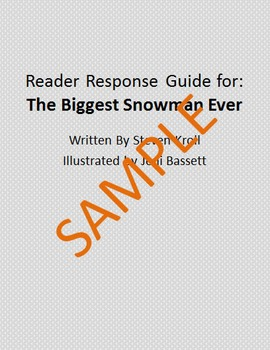 Holiday Reader Response Guide: The Biggest Snowman Ever
