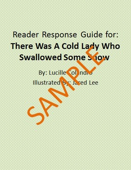 Holiday Reader Response Guide: There Was A Cold Lady Who Swallowed Some Snow