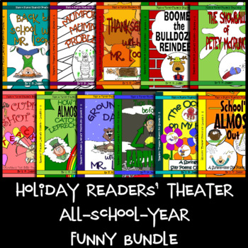 Holiday Readers' Theater Scripts All-school-year Funny Bundle - Grades 3-6