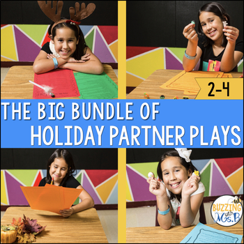 Holiday Reader's Theater Script Bundle: 20 Partner Plays for Two Readers