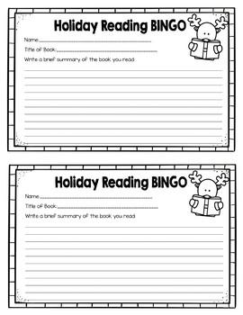 Holiday Reading BINGO Challenge