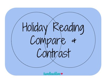 Holiday Reading Compare and Contrast
