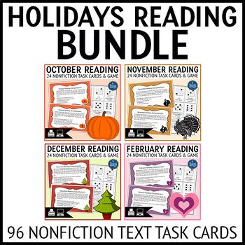 Holiday Reading Task Cards Bundle