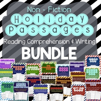 Holiday Reading Comprehension Bundle