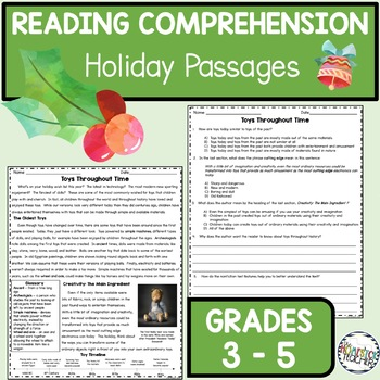 Holiday Reading Comprehension Passages and Questions