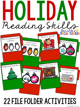Holiday Reading File Folders (22 tasks included)