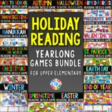 Holiday Reading Games Bundle: 500+ Reading Skills Task Cards