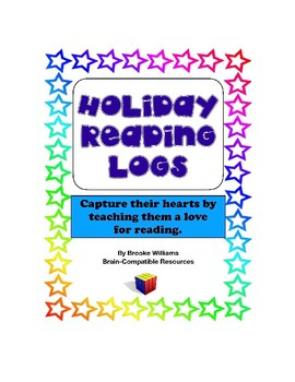 Holiday Reading Logs for the love of reading