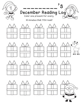 Freebie - Reading Logs - Holiday