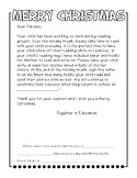 Holiday Reading Reminder Letter