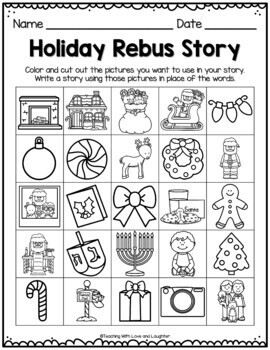 Holiday Rebus Stories