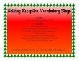 Holiday Receptive Vocabulary Bingo