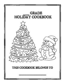 holiday recipe cookbook template by ms k s forte tpt
