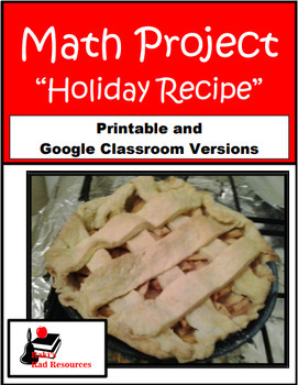 Holiday Recipe- Math Project