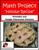 Holiday Recipe- Math Project