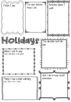 Recount Brainstorm Worksheets Teaching Resources Tpt
