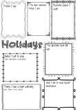 Holiday Recount Brainstorm