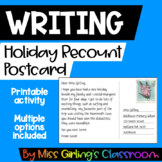 Holiday Recount Postcard #austeacherBFR