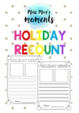 Holiday Recount Template - Dotted Thirds & Base Line