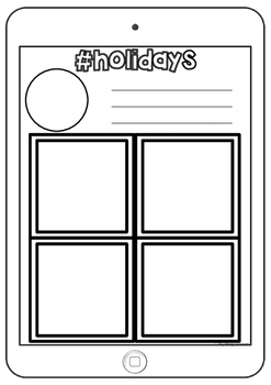 Holiday Recount Writing Display Pack