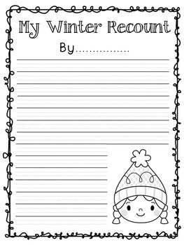 Holiday Recount Writing Pages - Seasonal
